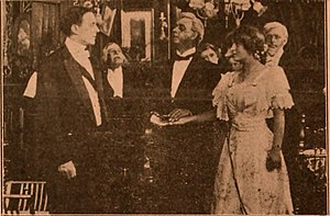 Young Lord Stanley - A film still showing the climax scene with Jack reintroduced to Ann as Lord Stanley
