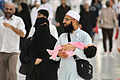 Young Muslim Couple with Toddler at Masjid al-Haram, 6 April 2015.JPG