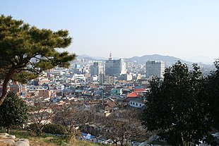 Panorama view of Mokpo from Yudalsan