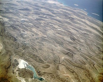 Fold mountains - Zagros Mountains, seen from space.