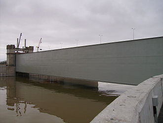 Valentina Matviyenko - The Saint Petersburg Dam was completed when Matviyenko was in office. The dam is the last part of the Saint Petersburg Ring Road, with the longest sub-sea tunnel in Russia going below the dam's largest lock.