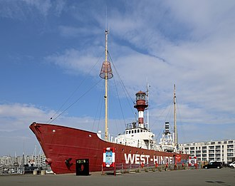 Lightvessel - Former Belgian lightship West-Hinder II, now a museum ship in Zeebrugge