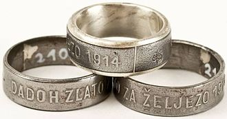 Croatia during World War I - Gave Gold for Iron rings, 1914