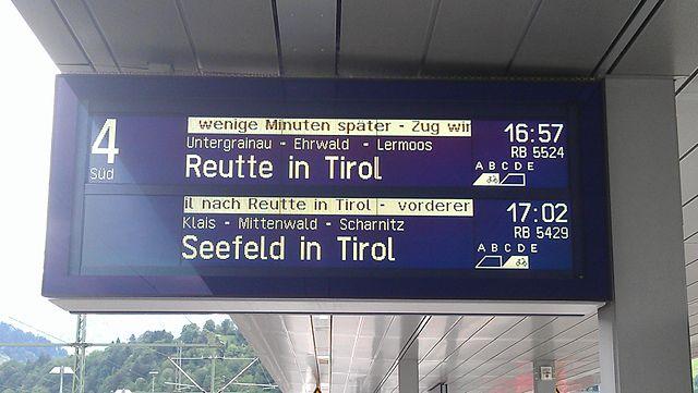 Garmisch-Partenkirchen, Seefeld in Tirol, Reutte in Tirol