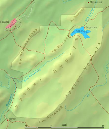 Схема национального парка «