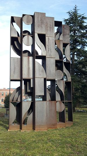 """Putnam Collection of Sculpture, Princeton University - """"Atmosphere and Environment X"""" by Louise Nevelson"""