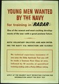 """YOUNG MEN WANTED BY THE NAVY FOR TRAINING IN 'RADAR'."" - NARA - 516242.tif"