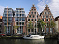 (Haarlem) The morden & triditional houses along the Spaarne River, Netherlands.jpg