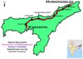 (Kamakhya - Murkongselek) Intercity Express route map.png