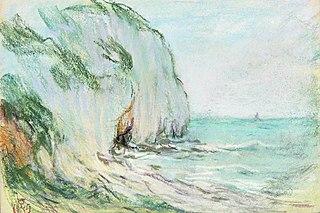 Paysage marin, falaise