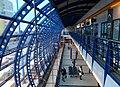Černý Most, stanice Rajská zahrada, pohled z patra.jpg
