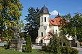 Černošice, kostel Nanebevzetí Panny Marie, tříčtvrteční pohled.JPG