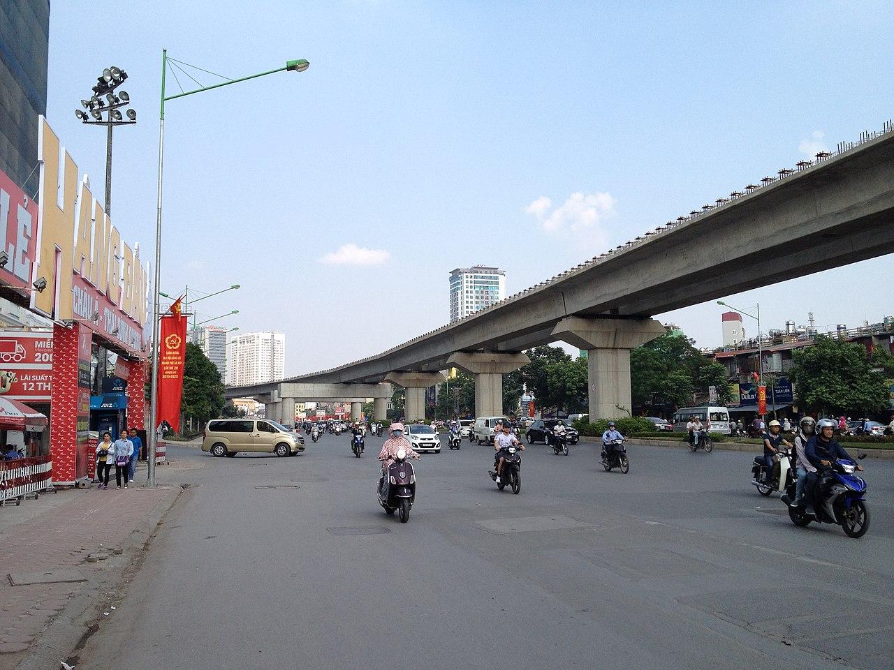 Đường sắt Cát Linh - Hà Đông, Quận Thanh Xuân, Hà Nội. Ảnh Wikipedia