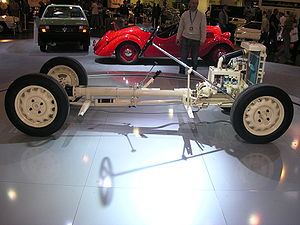 Backbone chassis - The chassis of a Škoda 420 Popular (1934)