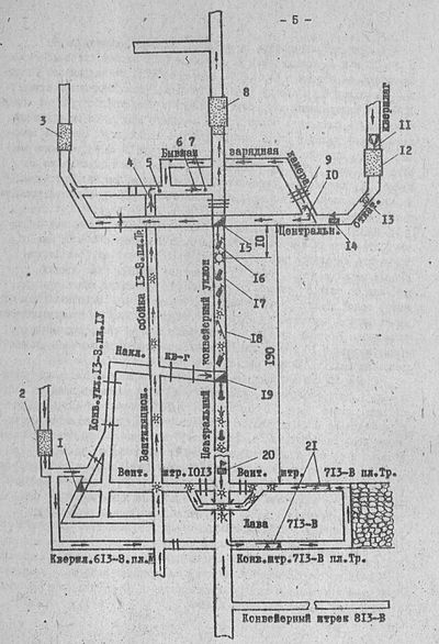 Схема аварии 18 ноября 1981