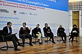 从左至右:Lawrence Lessig、宫力、潘海东、方兴东、欧宁、王春燕 (5181245845).jpg