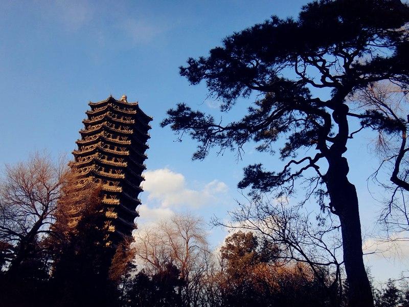 北京大学,未名湖畔,博雅塔