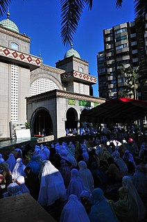 Eid prayers prayer which is practiced on the first days of Islamic Ramadan and Adha festivals in the morning