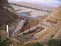 -2009-10-10 Steps down to Beeston Regis beach from the Caravan Park, Beeston Regis..JPG