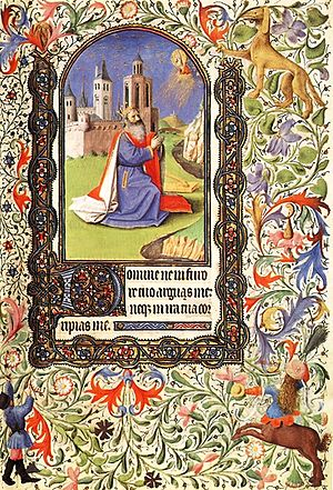 Psalm 6 - Image: David GD 1 Book of Hours from Namur