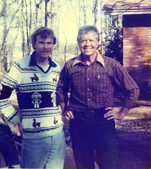 George Meegan - In Jimmy Carter's backyard, Plains, GA (1981)