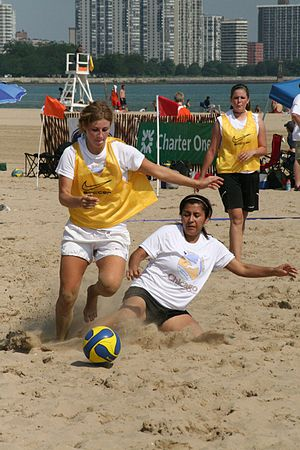 Beach soccer - A beach soccer game at the 2006 Chicago Beach Soccer Invitational