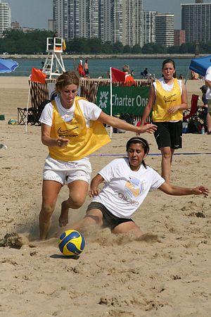 Beach soccer - A beach soccer game at the 2006 Chicago Beach Soccer Invitational
