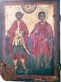 07 Saint Christopher and Saint Tryphon Icon in Assumption of Mary Church in Agios Vasileios.jpg