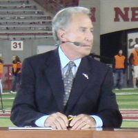 Corso on the set of College GameDay
