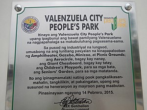 Valenzuela People's Park - Image: 09784jf Peoples Park Center Roads Valenzuela Cityfvf 19