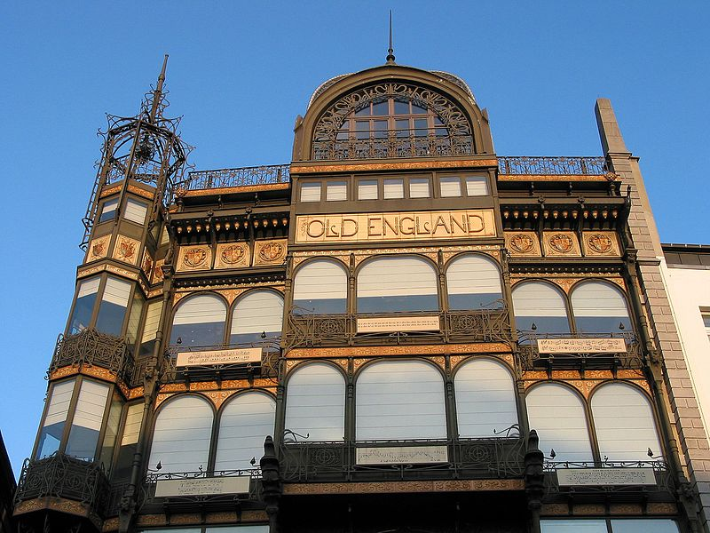 "Brussels (Belgium), former ""Old England"" shop (architect: Paul Saintenoy - 1899) - actual Musical Instrument Museum (MIM) in Brussel."