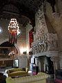 105 Castell de Santa Florentina (Canet de Mar), saló del tron, llar de foc.JPG