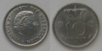 Dubbeltje - 10 Cent, 1950