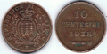 10 centesimi di Lira - 1938 - San Marino 03.png