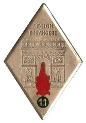 11th Foreign Infantry Regiment - Image: 11° Régiment étranger d'Infantrie