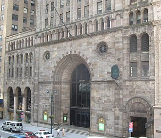 Louis Ayres - Bowery Savings Bank building, designed by Louis Ayres