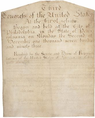 Eleventh Amendment to the United States Constitution - The Eleventh Amendment in the National Archives