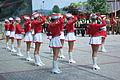 125th anniversary of TG Sokół in Sanok (June 7, 2014) 12 majorettes salute.jpg
