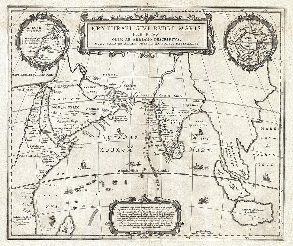 1658 Jansson Map of the Indian Ocean (Erythrean Sea) in Antiquity - Geographicus - ErythraeanSea-jansson-1658