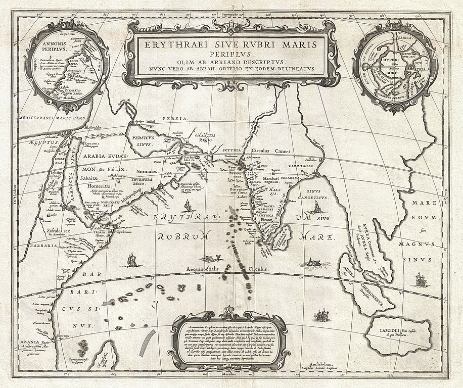 File:1658 Jansson Map of the Indian Ocean (Erythrean Sea) in ...