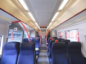 British Rail Class 168 - Image: 168108 Interior 1