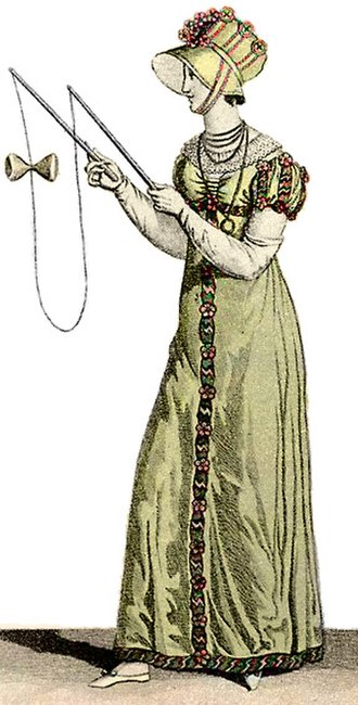 Diabolo - 1812 illustration of woman with diabolo
