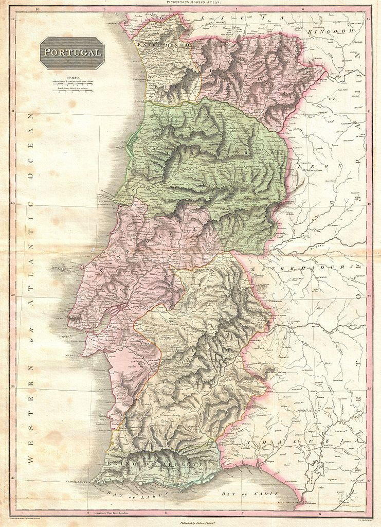 File Pinkerton Map Of Portugal Geographicus Portugal - Portugal map jpg
