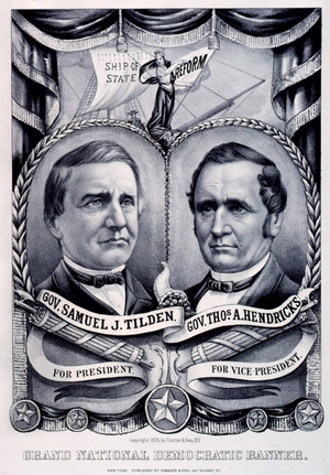 1876 Democratic National Convention - Tilden/Hendricks campaign poster