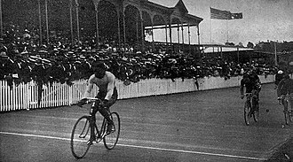 Adelaide Oval - Major Taylor wins the Walne Stakes cycling race at Adelaide Oval in 1903.