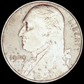 "1909 obverse, with a slightly enlarged portrait Washington facing left and large ""9""s in the date"
