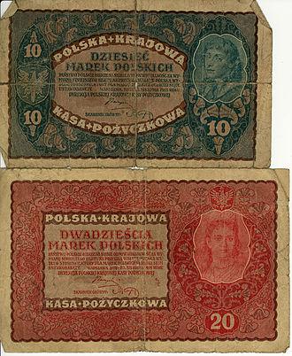 Polish marka - 10 and 20 Marks from 1919