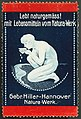 1920 circa Gebr. Hiller-Hannover, Natura-Werk, Reklamemarke.jpg