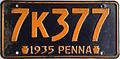 1935 Pennsylvania license plate.JPG