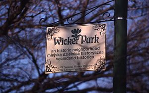 Wicker Park, Chicago - Wicker park sign in 1999